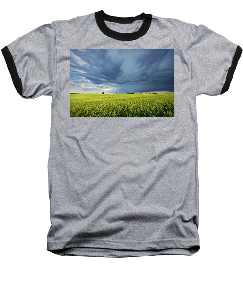 Summer Storm Over Alberta Baseball T-Shirt