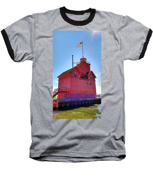 Baseball T-Shirt featuring the photograph Summer Sun And Big Red by Michelle Calkins