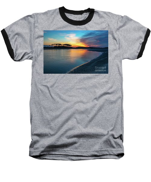 Summer Sunrise At The Inlet Baseball T-Shirt