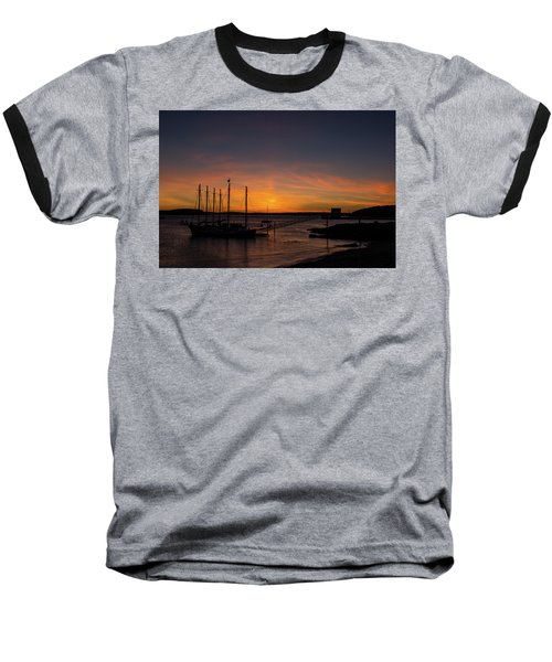 Summer Sunrise In Bar Harbor Baseball T-Shirt