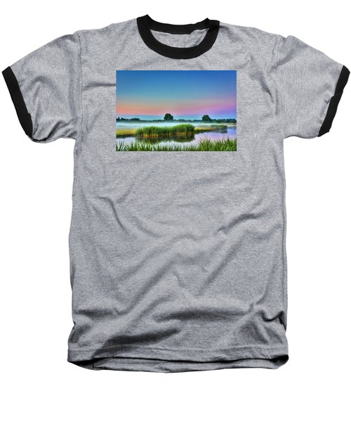 Summer Sunrise Baseball T-Shirt by Nadia Sanowar