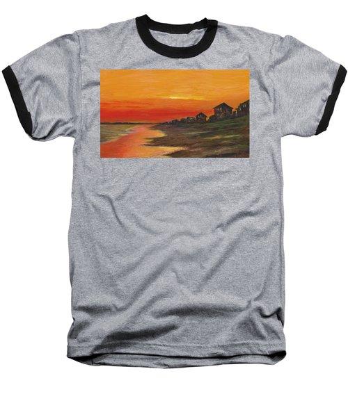 Summer Sunset At  Crystal Beach Baseball T-Shirt