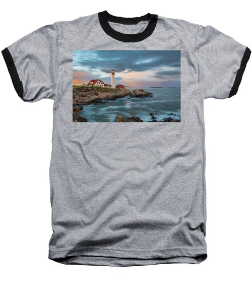 Summer Sunset At Portland Head Light Baseball T-Shirt