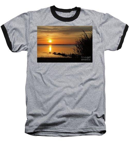 Summer Sunset Baseball T-Shirt by Kennerth and Birgitta Kullman