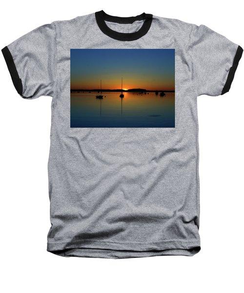 Summer Sunset Monument Beach Baseball T-Shirt