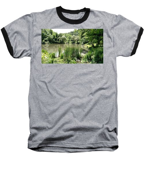 Baseball T-Shirt featuring the painting Summer Swamp by James Guentner
