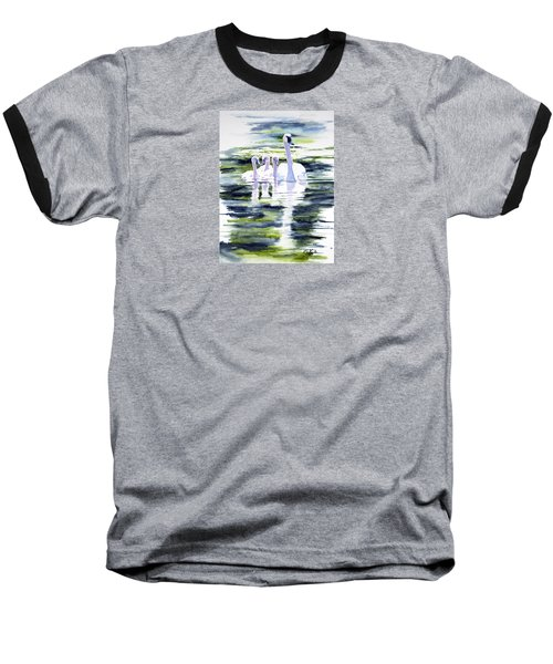 Summer Swans Baseball T-Shirt