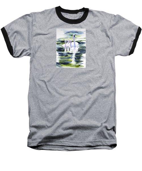 Summer Swans Baseball T-Shirt