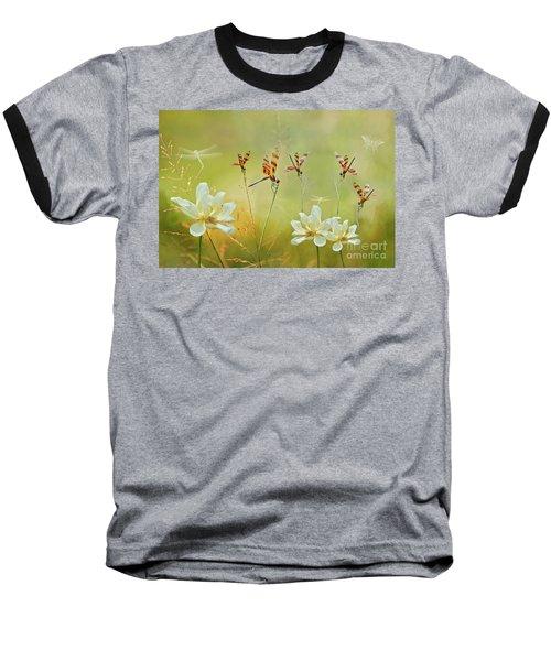 Summer Symphony Baseball T-Shirt by Bonnie Barry