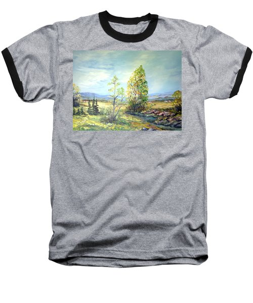 Summer Time Baseball T-Shirt by Dorothy Maier