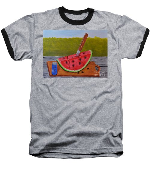 Summer Treat Baseball T-Shirt by Melvin Turner