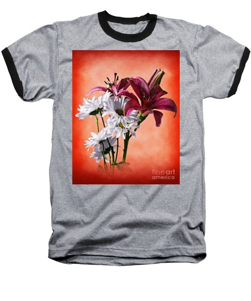 Summer Wild Flowers  Baseball T-Shirt
