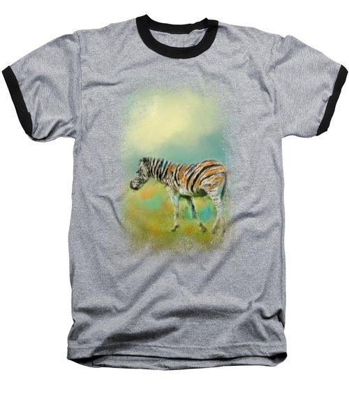 Summer Zebra 2 Baseball T-Shirt