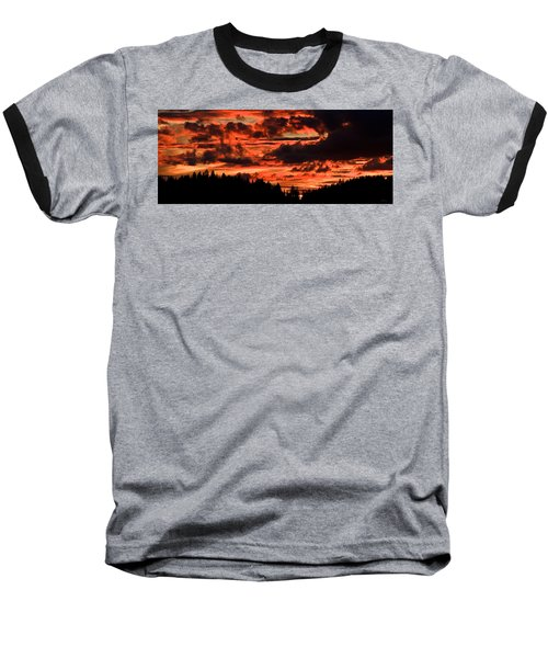 Summer's Crimson Fire Baseball T-Shirt