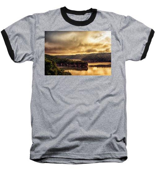 Summersville Lake At Daybreak Baseball T-Shirt