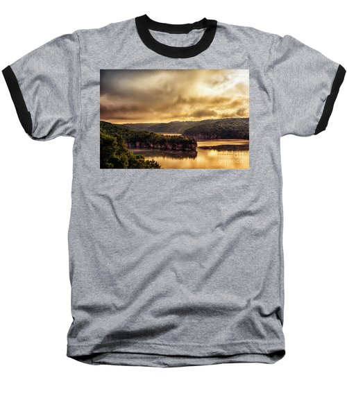 Summersville Lake At Daybreak Baseball T-Shirt