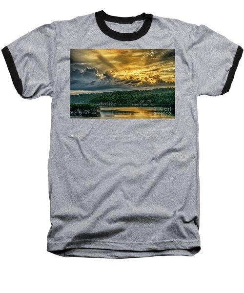 Summersville Lake Sunrise Baseball T-Shirt
