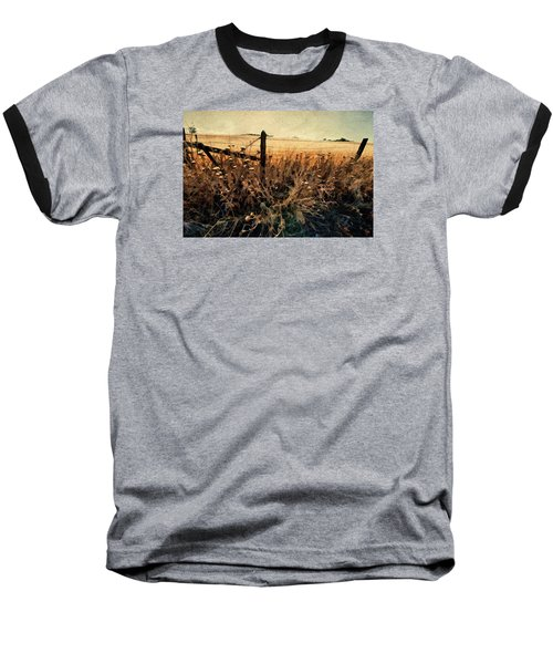 Baseball T-Shirt featuring the photograph Summertime Country Fence by Steve Siri
