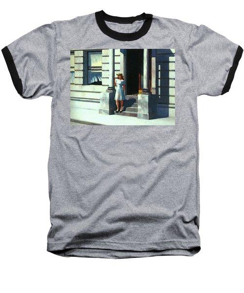 Summertime  Baseball T-Shirt by Edward Hopper