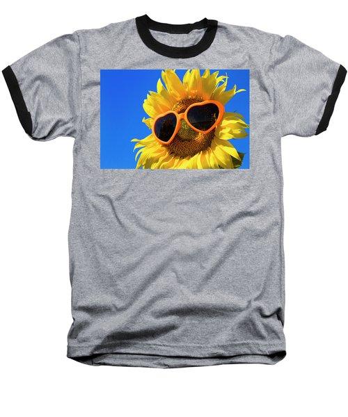 Summertime Baseball T-Shirt by Teri Virbickis
