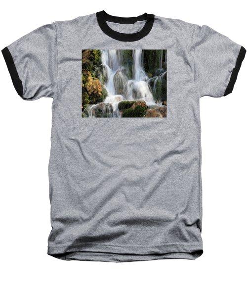 Summit Creek Waterfalls Baseball T-Shirt