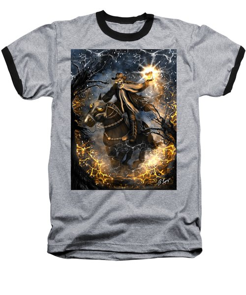 Summoned Skull Fantasy Art Baseball T-Shirt