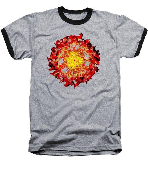 Sun Abstract Art By Kaye Menner Baseball T-Shirt by Kaye Menner