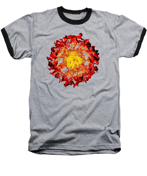 Sun Abstract Art By Kaye Menner Baseball T-Shirt