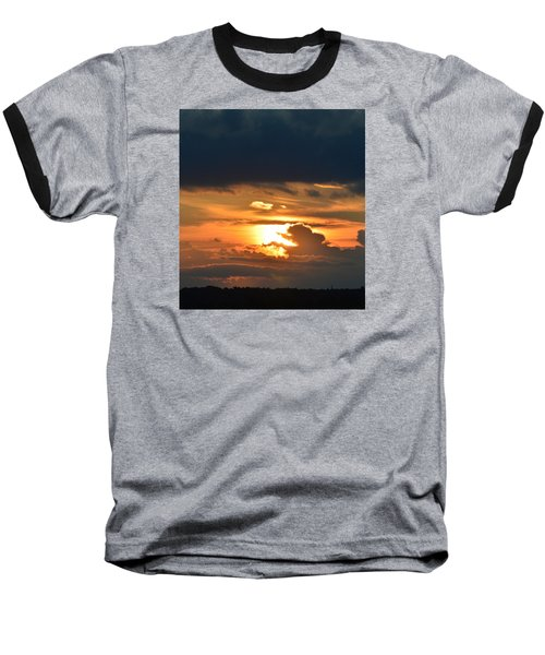 Baseball T-Shirt featuring the photograph Sun And Dark Clouds  by Lyle Crump
