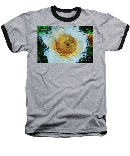 Sun And Moon Peony Impression Baseball T-Shirt