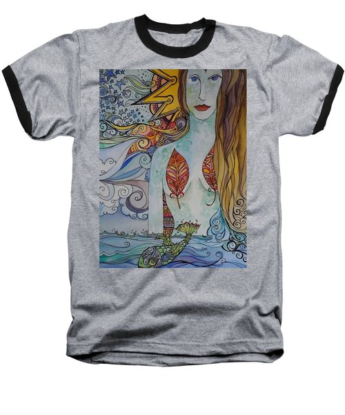 Sun And Sea Godess Baseball T-Shirt