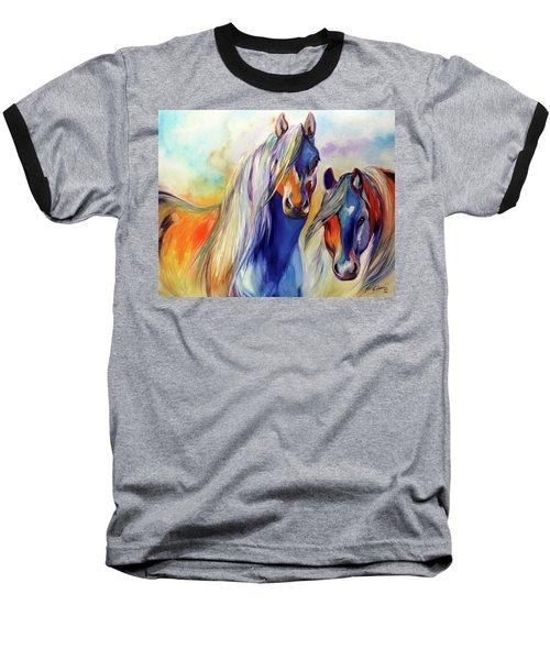 Sun And Shadow Equine Abstract Baseball T-Shirt