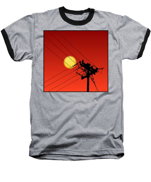 Sun And Silhouette Baseball T-Shirt