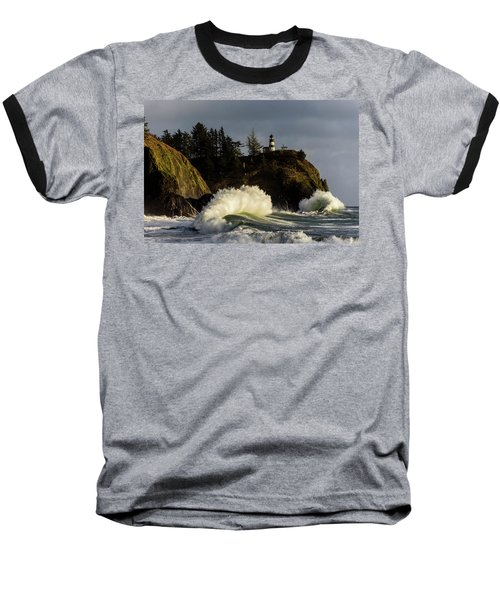 Sun And Surf With Lighthouse Baseball T-Shirt