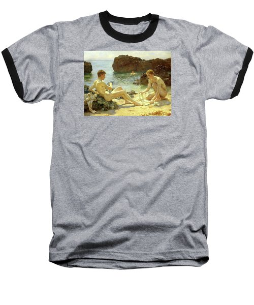 Sun Bathers Baseball T-Shirt by Henry Scott Tuke