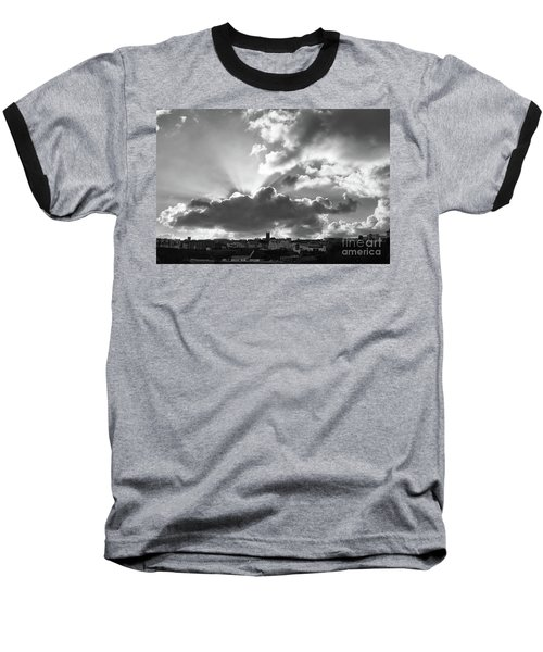 Baseball T-Shirt featuring the photograph Sun Beams Over Church by Nicholas Burningham