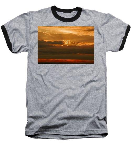Sun Behind Dark Clouds In Vogelsberg Baseball T-Shirt