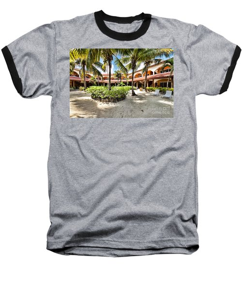 Sun Breeze Hotel Baseball T-Shirt by Lawrence Burry