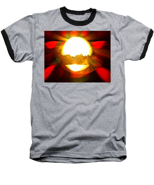 Sun Burst Baseball T-Shirt by Eric Dee