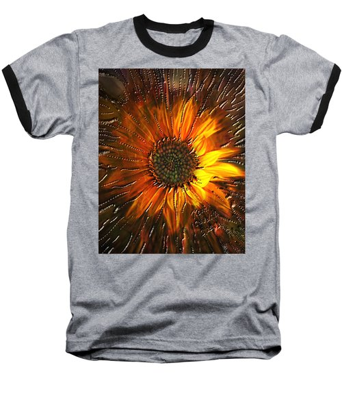 Baseball T-Shirt featuring the painting Sun Burst by Kevin Caudill