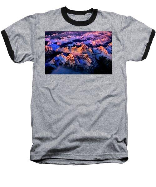 Baseball T-Shirt featuring the photograph Sun Catcher - Assiniboine by John Poon