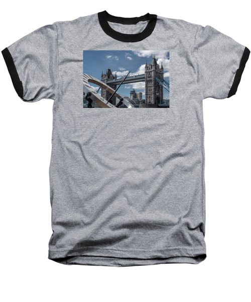 Sun Clock With Tower Bridge Baseball T-Shirt