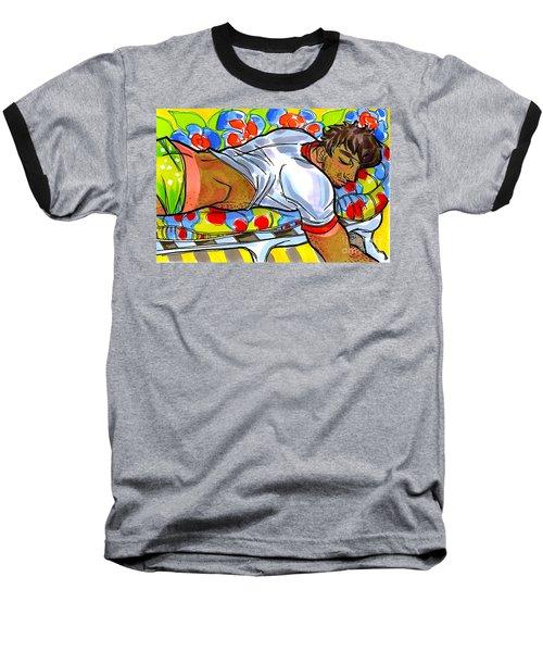 Sun-dappled Lad Baseball T-Shirt