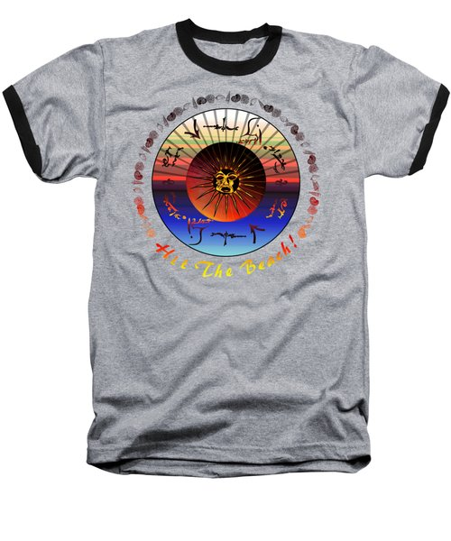 Baseball T-Shirt featuring the drawing Sun Face Stylized by Robert  G Kernodle