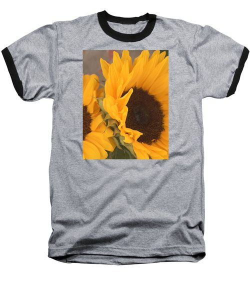 Sun Flower Baseball T-Shirt by Jana Russon