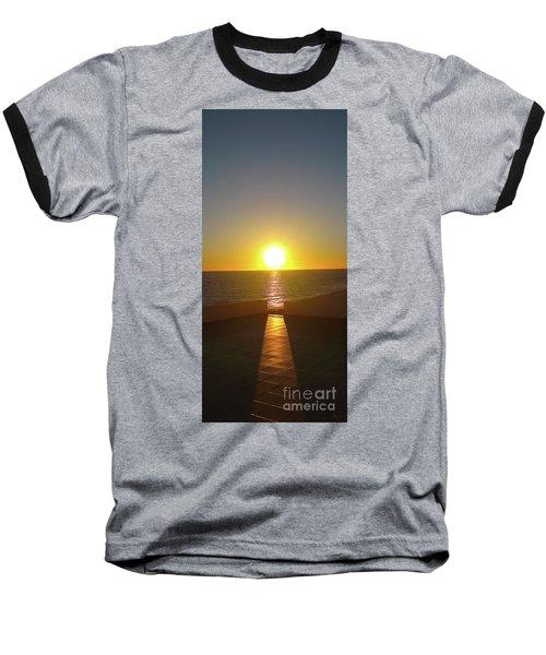 Sun Gazing Baseball T-Shirt by Gem S Visionary