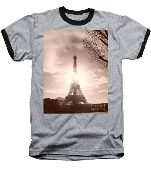 Sun In Paris Baseball T-Shirt