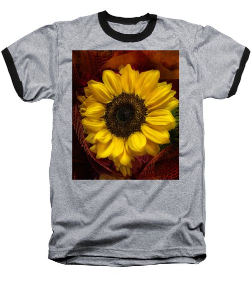 Sun In The Flower Baseball T-Shirt by Arlene Carmel