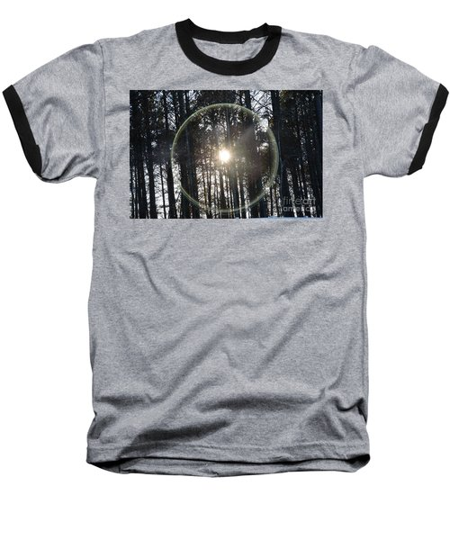 Sun Or Lens Flare In Between The Woods -georgia Baseball T-Shirt