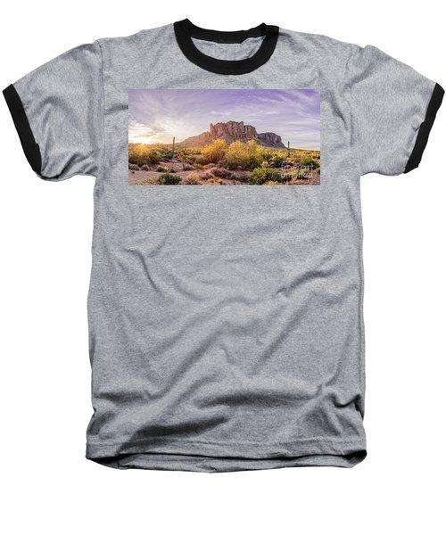 Sun Peaking At Lost Dutchman State Park - Apache Junction Arizona Baseball T-Shirt